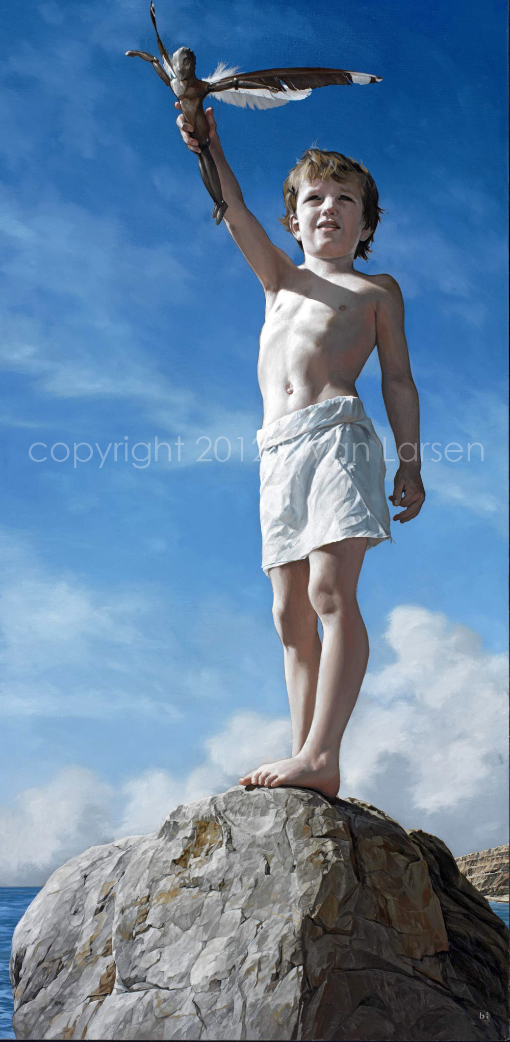 "Larsen, Young Icarus, 2009, 30x18"""