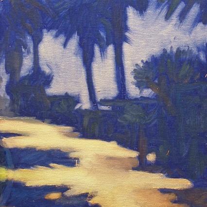 Newberry, Santa Monica Palms on Ocean Ave Path