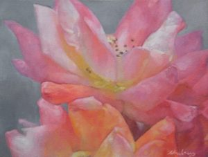 """Newberry, La Vie en Rose, 2017, oil on canvas, 16x24"""""""