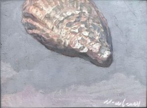"""Newberry, Oyster Shell, 2019, oil on panel, 9x12"""""""