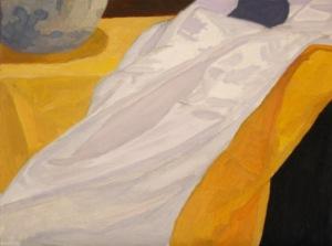 "Newberry, White Silk, 2007, oil on panel, 9x12"""