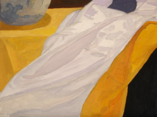 Newberry, White Silk, 2007, oil on panel, 9x12""