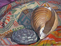 Newberry, Shells, 2011, oil on panel, 9x12""