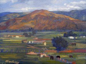 Newberry, Cows in a Utah Field, oil