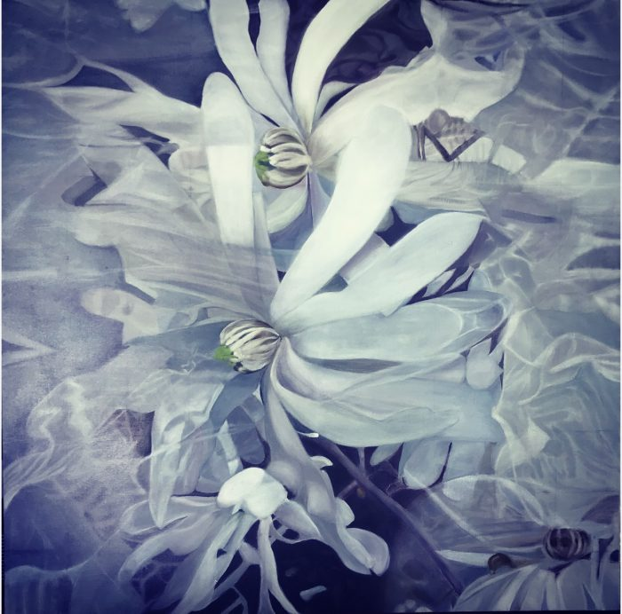 chanluu-floating-flowers-oil-on-canvas-2019