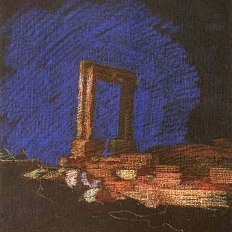 newberry-naxos-harbor-1988-pastel-on-paper-18x24