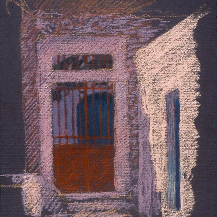 newberry-red-gate-1988-pastel-on-paper-18x24