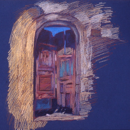 newberry-rickety-gate-1988-pastel-on-paper-18x24