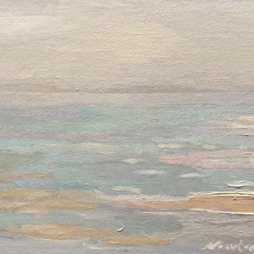 "Newberry, Seagulls, 2020, oil on panel, 9x12"""