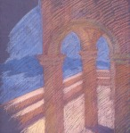 newberry-stantorini-pink-1988-pastel-on-paper-18x24
