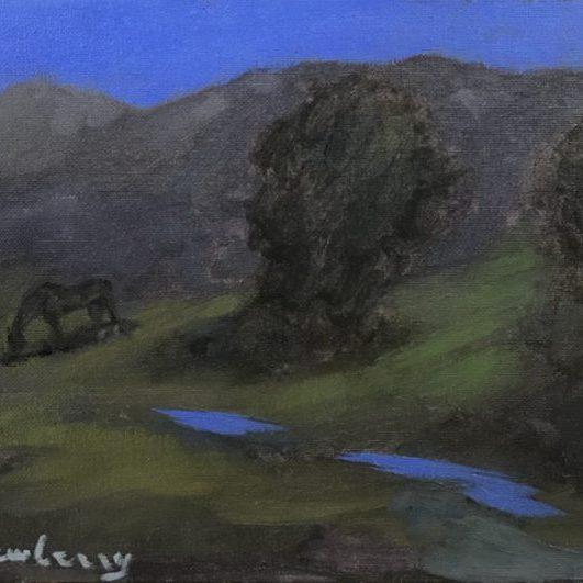 """Newberry, Teton Twilight, 2020, oil, 9x12"""""""