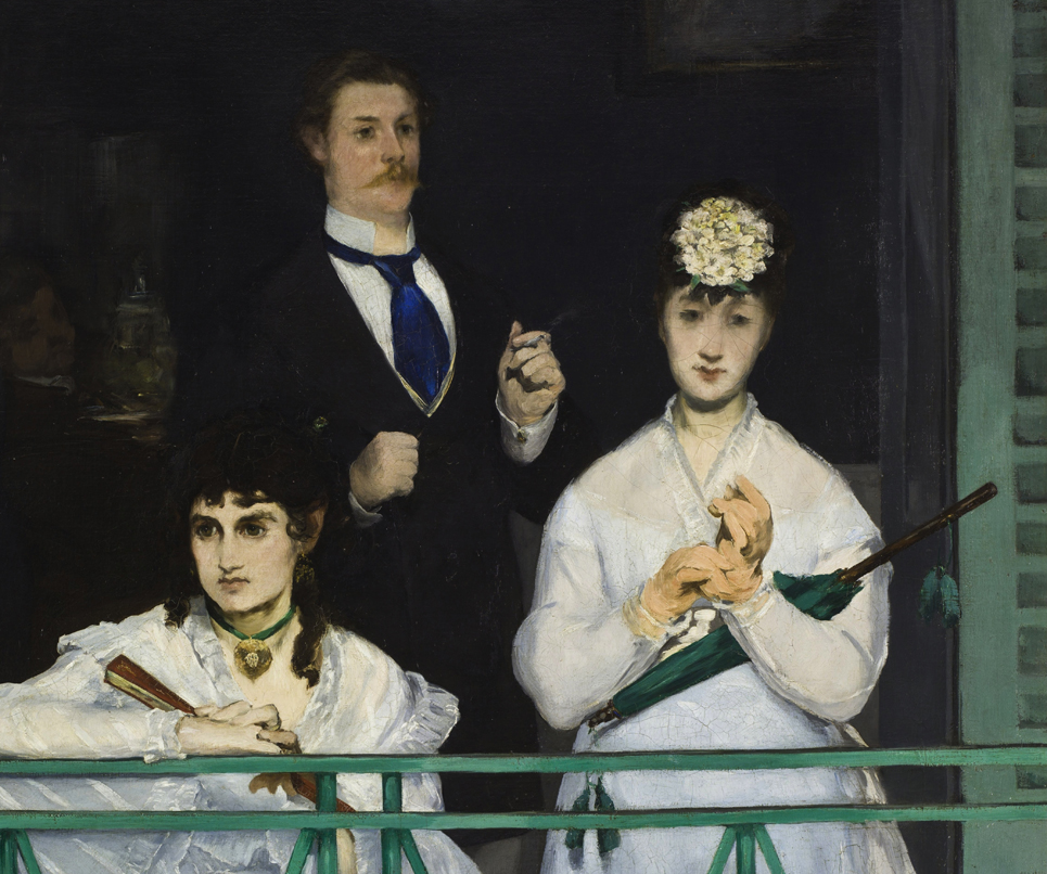 Edouard Manet, The Balcony, detail