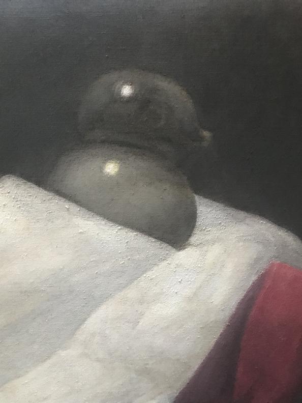 , Transcending Traitors, bird detail, 2020, oil on linen
