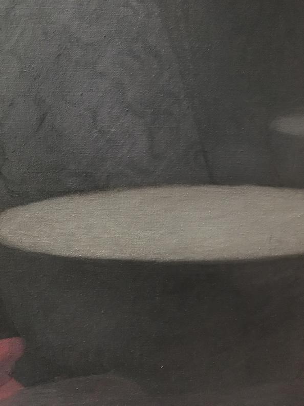 , Transcending Traitors, bowl 2 detail, 2020, oil on linen