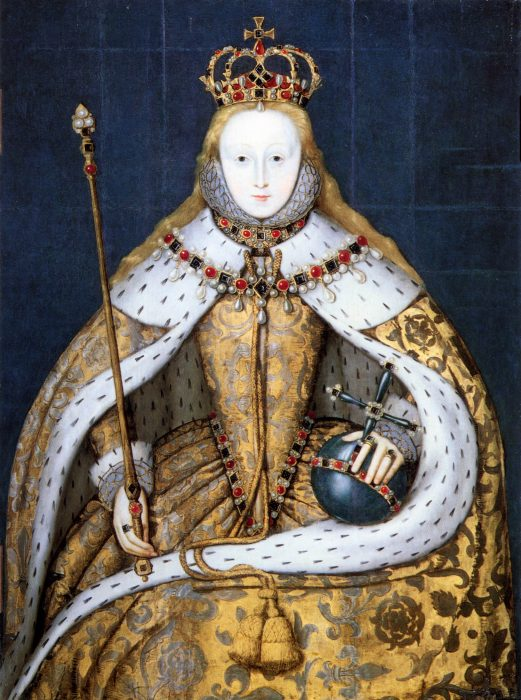Queen Elizabeth 1, in coronation robes, artist unknown