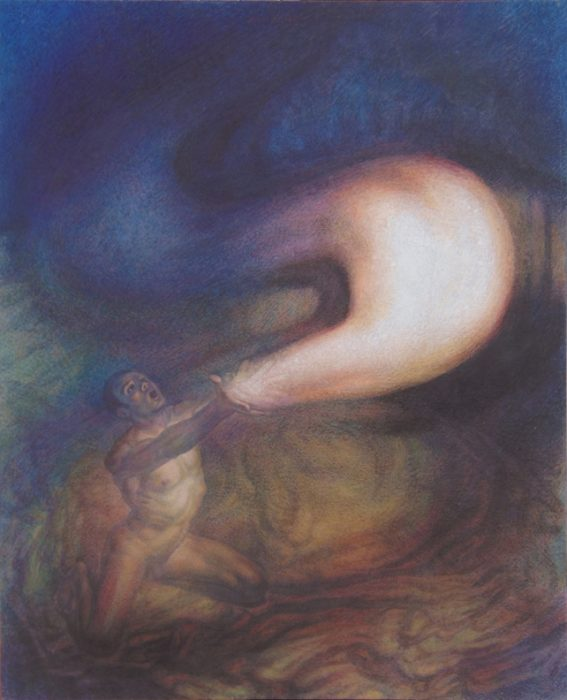 Newberry, God Releasing Stars Into the Universe, 1999, oil on linen, 82x77""