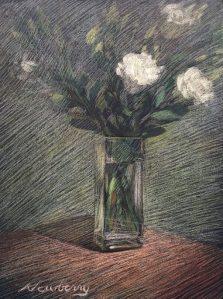 Newberry, Tribute to Manet's Last Florals, pastel