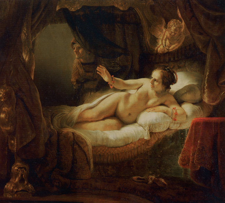 "Rembrandt, ""Danae"", 1636 thru probably 1646, oil, 73x80"