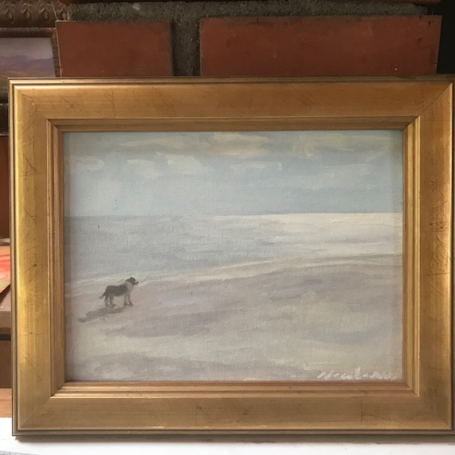 Newberry, Doggy at Picnic Island, oil on canvas