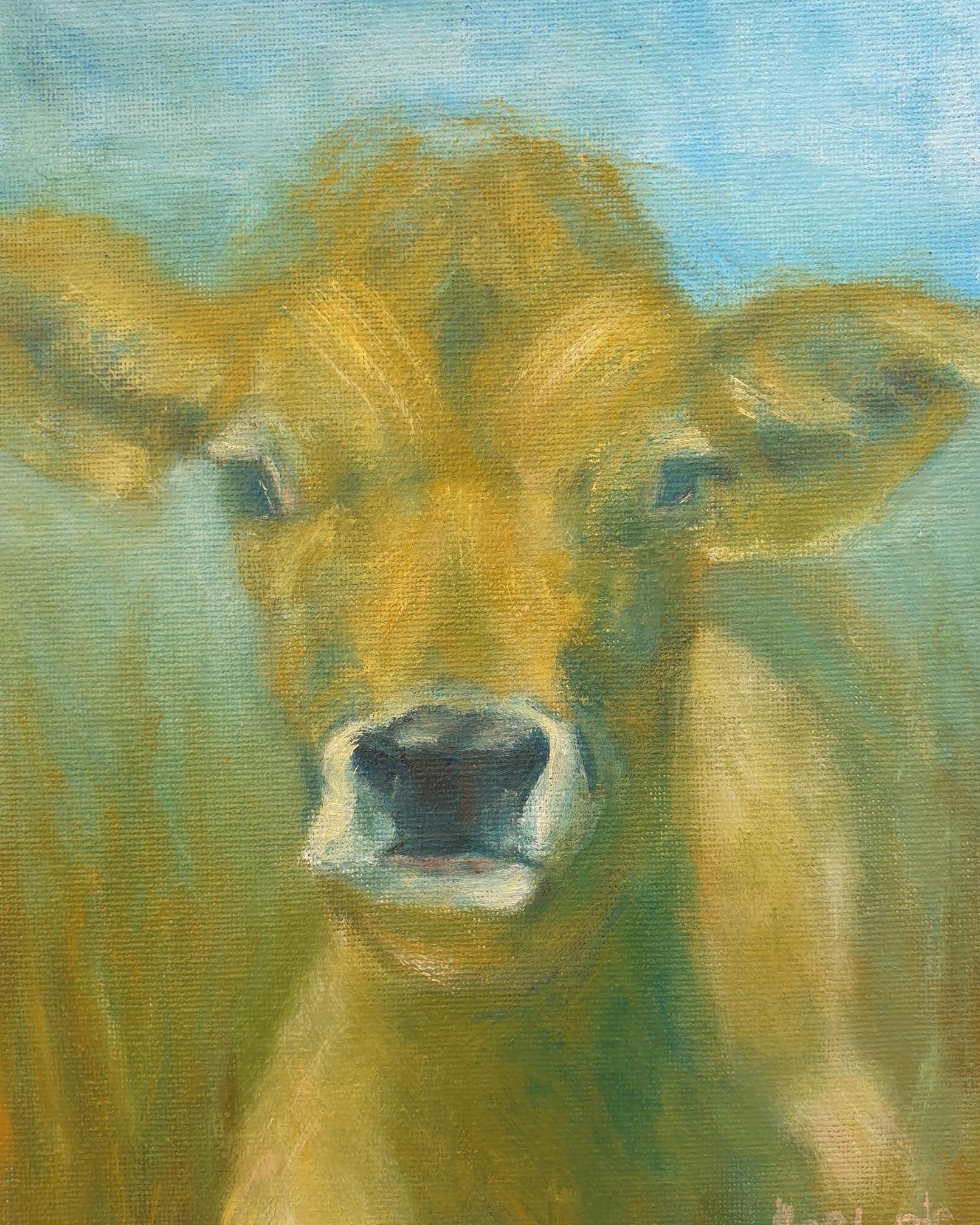 Sonia L'eatarde, Golden Calf, oil on canvas,