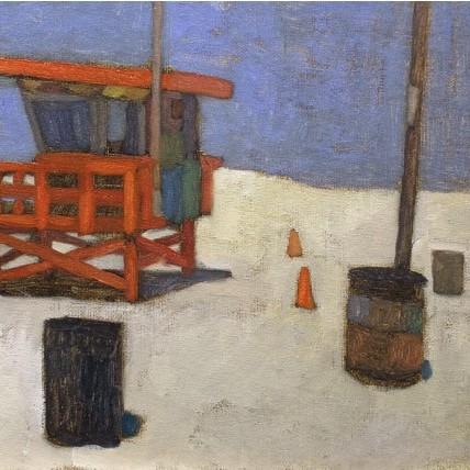 newberry-red-lifeguard-station-venice-beach-oil