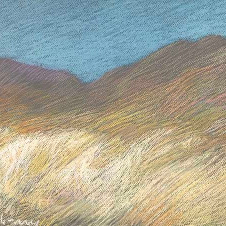 "Newberry, Borrego Springs, 2020, pastel, 13x18"""