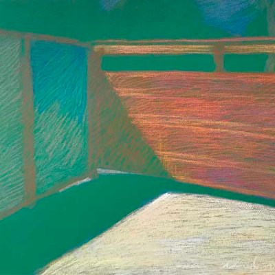 Newberry, Obermeyer's Gate, pastel on green paper