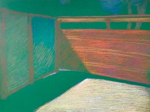 Newberry, Obermeyer's Gate, pastel on green paper