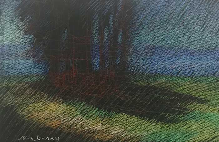"""Newberry, Central Coast Cluster, 2020, pastel, 13x18"""""""
