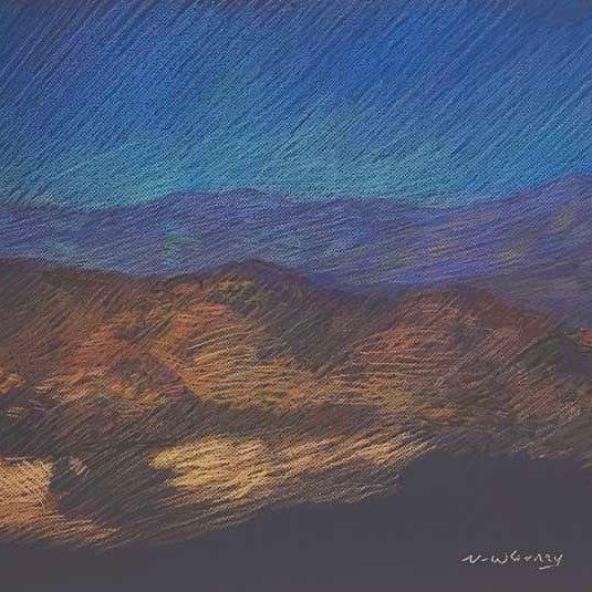 "Newberry, Joshua Tree, 2020, pastel, 18 x 24"""