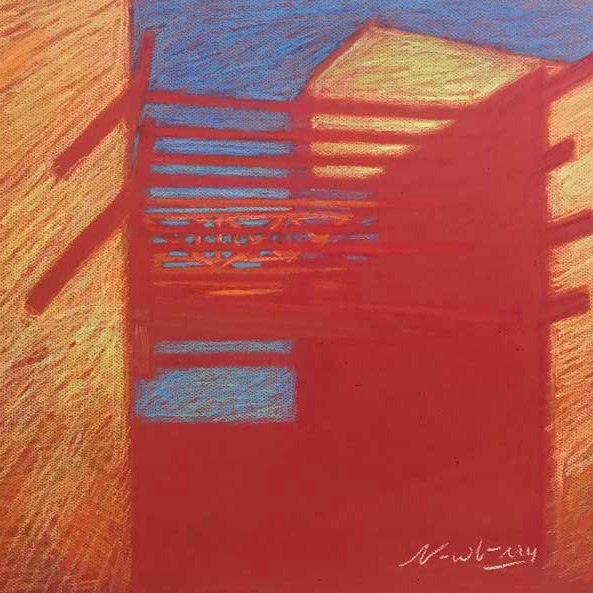 Newberry, The Red Gate-Rhodes, pastel