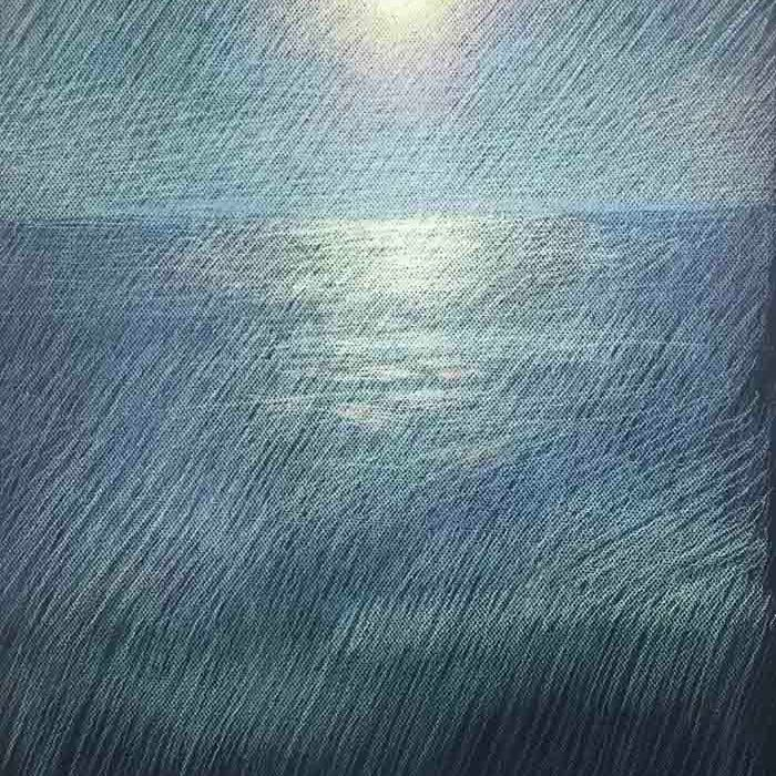 """Newberry, Sunset Over the Pacific, pastel, 24x18"""""""