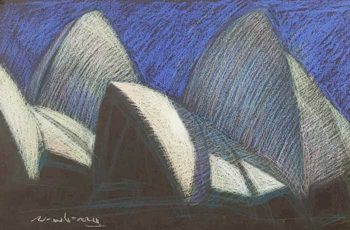Newberry, Sydney Opera House, pastel