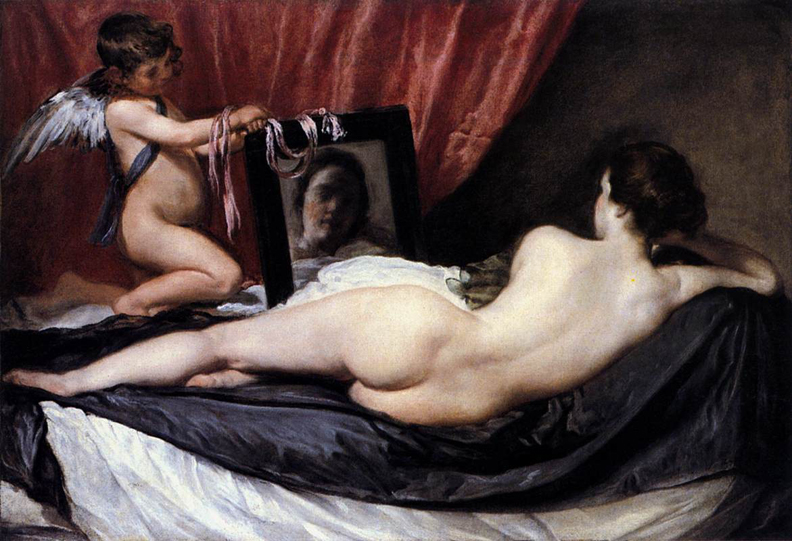 Venus at her Mirror (1648–1651) by Velazquez, National Gallery, London.