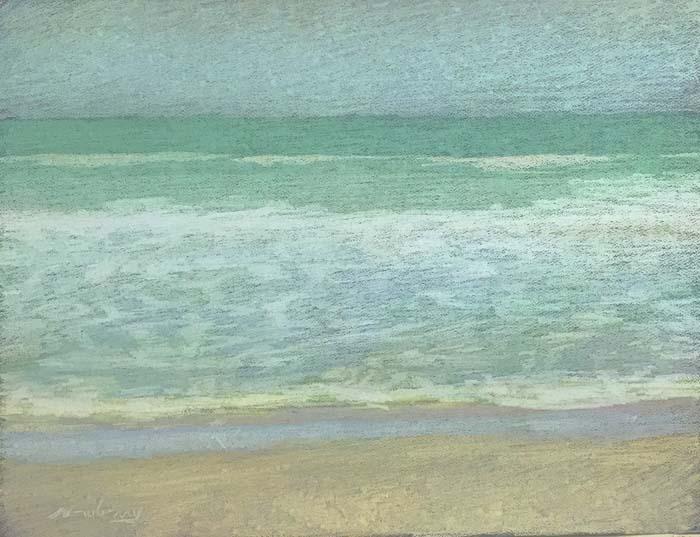 Newberry, Apollo Beach Light Yellow, 2020, pastel, 18x24 inches