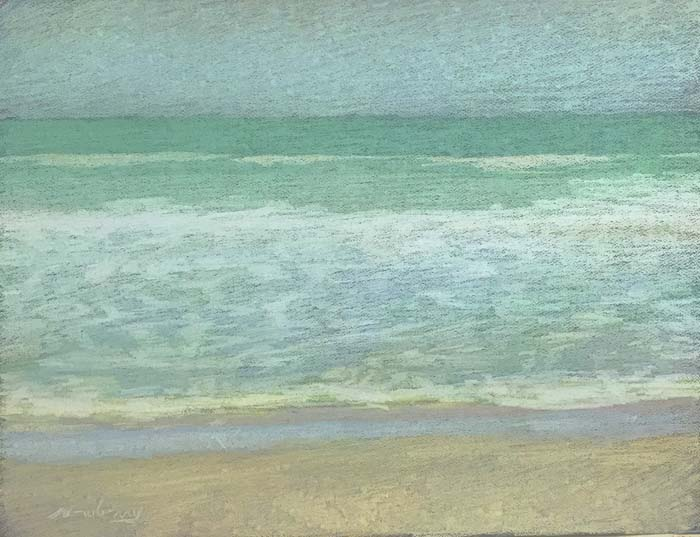 Newberry, Apollo Beach Light Yellow, 2020, pastel, 18x24 inches
