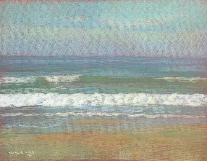 Newberry, Apollo Beach Lime, 2020, pastel, 18x24 inches