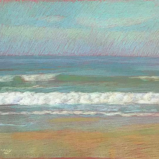 Newberry, Apollo Beach Lime, 2020, pastel, 18x24 inches