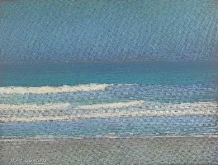 Newberry, Apollo Beach Turquoise, 2020, pastel, 18x24 inches