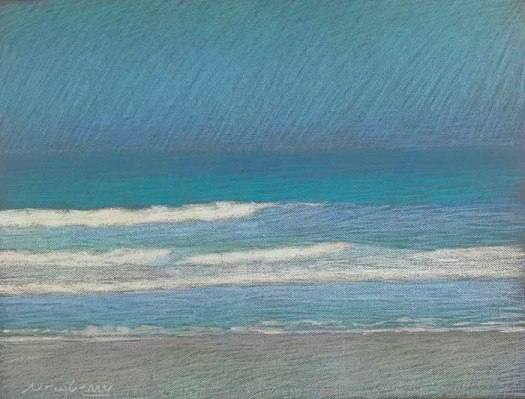Newberry, Apollo Beach Turquoise, 2020, pastel, 18x24 inches