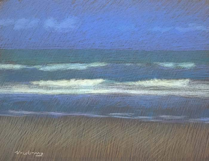 Newberry, San Onofre Blue, 2020, pastel, 18x24 inches