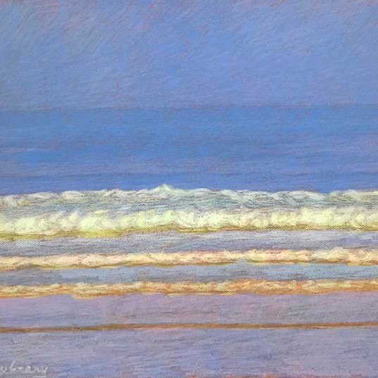 Newberry, San Onofre Blue-Violet, 2020, pastel, 18x24 inches