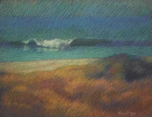 Newberry, San Onofre Gold, 2020, pastel, 18 x 24 inches