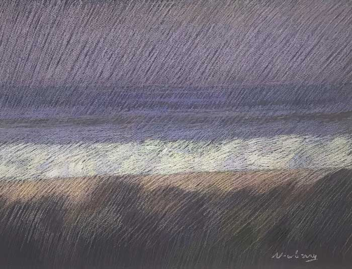 Newberry, San Onofre Violet, 2020, pastel, 18x24 inches