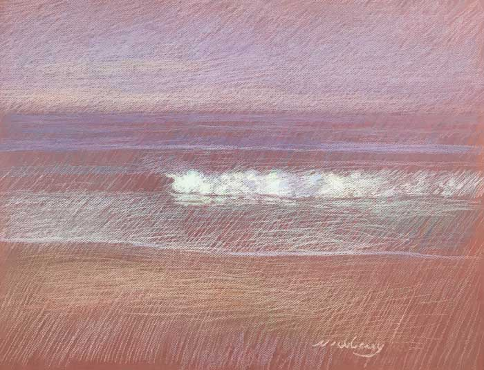Newberry, San Onofre Pink, 2020, pastel, 18x24 inches