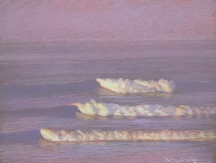 Newberry, San Onofre Red Violet, 2020, pastel, 18x24 inches