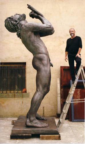 Peter Schipperheyn, Thus Spoke Zarathustra, bronze, 13 feet