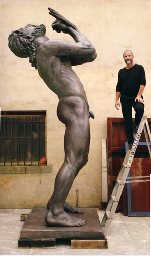 Peter Schipperheyn, Thus Spoke Zarathustra, bronze, 13 feet