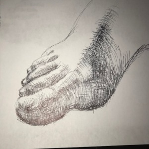 Newberry, ink studies of model's toes right foot
