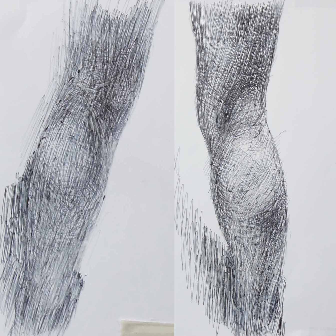 Newberry, Eve, detail of legs, ink